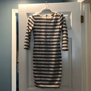 Alice and Olivia Stripped Sequins Dress